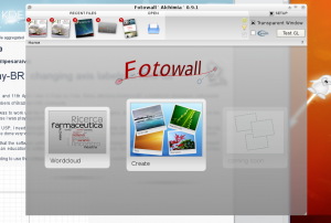 Another back-blurred screen in Fotowall.